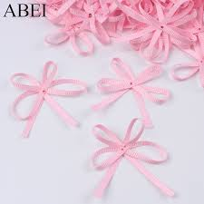 <b>50pcs</b>/lot Pink Satin <b>Ribbon</b> Bows Gift Package <b>Scrapbooking</b> ...