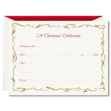 holiday holiday greeting cards holiday party invitations gilded berry vine fill in holiday invitations