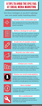 tips to avoid the epic fail at social media marketing 9 tips to avoid failing at social media marketing infographic