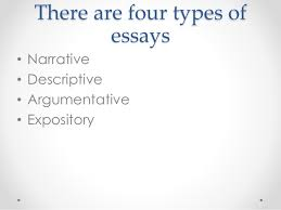 types of essays   there are four types of essays • narrative