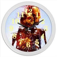 """Часы c авторскими принтами """"Череп и кости"""" - <b>Printio</b>"""