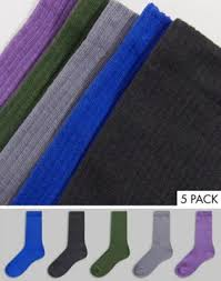 <b>Набор</b> из 5 пар разноцветных носков <b>New Look</b> | Org