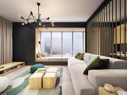 Contemporary Apartment Design This Contemporary Apartment Pops With Turquoise Accents