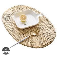 Amazon.com: HomeDo 4Pcs Corn <b>Straw</b> Woven <b>Placemats</b>, Round ...