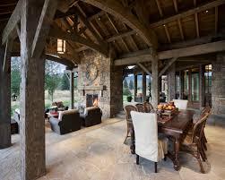 living rooms rustic patio