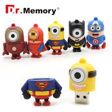 <b>Cartoon Flash Drive Pen Drive</b> Card Memory Stick <b>Superhero</b> Cute ...