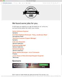 email alert signup remotely awesome jobs email screenshot