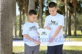 <b>Big Little Middle Little</b> Siblings T Shirts Siblings Shirts | Etsy