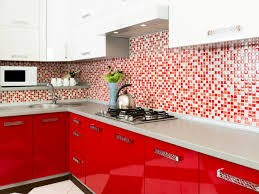Red Tile Paint For Kitchens Red Kitchen Paint Pictures Ideas Tips From With Cabinet White