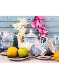 <b>Чайный сервиз</b> из <b>керамики</b> 13 предметов 220 мл LORAINE ...