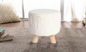3-legged Decorative <b>Round Faux Fur Stool</b> - LIVINGbasics | Real ...