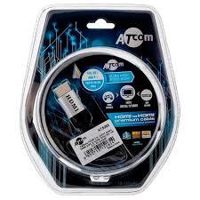 Купить Кабель <b>Atcom High</b> speed <b>HDMI</b> - <b>HDMI</b> 2 м серебристый ...