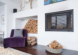 purple velvet chair living room contemporary with fireplace logs purple white alcove contemporary home office