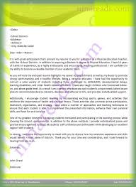 letter of application for physical education teaching position letter of application for physical education teaching position letterhead