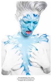 'Cold as Ice' – Amber Michael – MUA – NC - Amber-Michael-Body-Artist