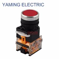 <b>P75 22mm 10A</b> Maintained Flat Push Button Switch self lock ...