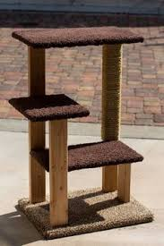 decided to try my hand at building my own cat tree chic cat furniture