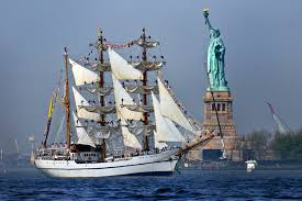 u s department of defense > photos > photo gallery the ian navy sail training ship bae guayas sails past the statue of liberty to participate