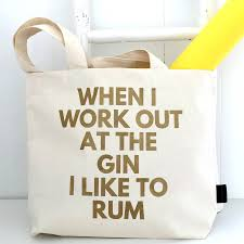 gin and rum gym bag by kelly connor designs com gin and rum gym bag