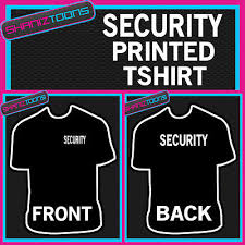 Security Staff Door Man Club In All Sizes Crew Neck <b>Men Loose Fit</b> ...