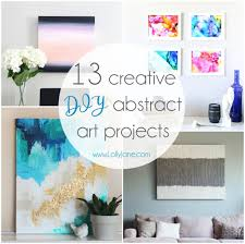 13 Creative <b>DIY</b> Abstract Wall Art Projects - Lolly Jane