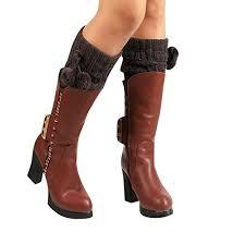 Sunward <b>Women's Winter</b> Warm <b>Knitted</b> Leg Warmers Boot Crochet ...