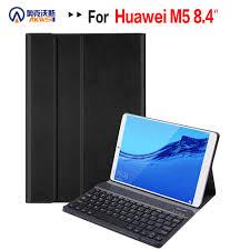 Removable <b>Bluetooth Keyboard Leather Case</b> for Huawei Mediapad ...