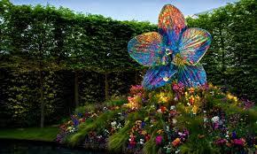 outdoor led light bulbslighted garden glass figurine over the flowerbed area lighting flower bed