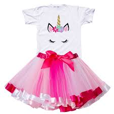 <b>2019 Girl</b> Unicorn <b>Tutu</b> Dress Rainbow <b>Princess Girls</b> Birthday Dress ...