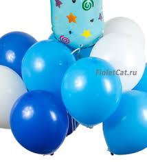 """Новорожденным - Набор <b>воздушных шаров</b> """"Это мальчик!"""""""