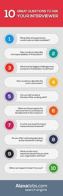 ideas about great interview questions 10 great questions to ask your interviewer infographic often job interviews can feel