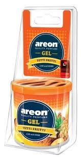 <b>AREON Ароматизатор для автомобиля</b> Gel Can Blister Tutti Frutti ...