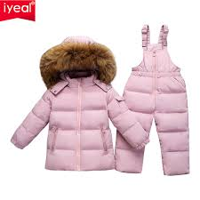 IYEAL <b>Russia Winter Warm Down</b> Jacket for Children Girl Clothes ...