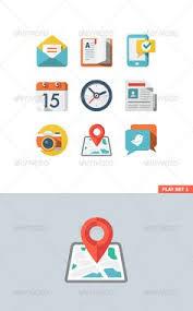 basic flat icon set for web and mobile application graphicriver flat icon set for web basic icons flat icons 1000