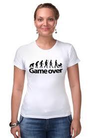 Футболка Стрэйч <b>Game Over</b> (Игра Окончена) #661470 ...