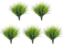 Flowers 2*<b>Artificial Grass Plants Green</b> Durable Fake Plant Wedding ...