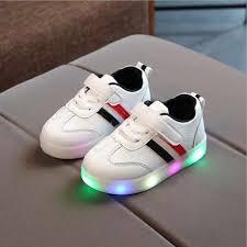 <b>New Children</b> Luminous <b>Shoes Boys</b> Girls Letter Sport Run ...