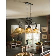 light black kitchen island lighting