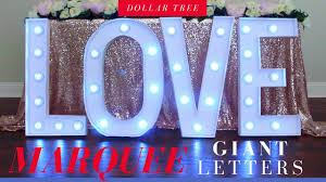 Dollar Tree Giant Marquee Letters DIY | <b>Party</b> Decoration Ideas ...