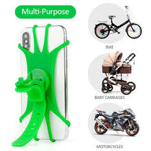<b>Universal Silicone</b> Bicycle Motorcycle Mobile <b>Phone</b> Holder Bike ...