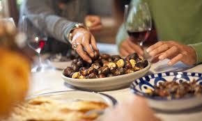 Risultati immagini per castagne e vino novello
