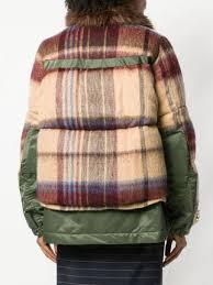 Sacai checked padded jacket Шерсть, Рюкзаки, От Кутюр, <b>Куртки</b> ...