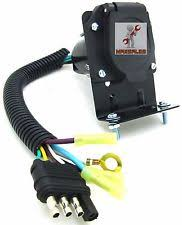 7 wire trailer harness new 4 flat to 7 way rv trailer light plug wire harness converter adapter