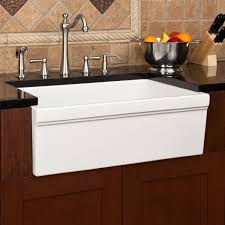 white ceramic apron front kitchen sink and brushed nickel faucet with two handle and sidespray apron kitchen sink kitchen