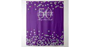 <b>Backdrop</b> 50th <b>Birthday</b> Silver <b>Purple</b> Confetti | Zazzle.com