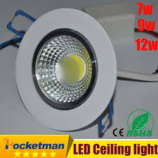 Buy <b>2016 Newest 7w 9W 12w LED</b> COB chip downlight Recessed ...