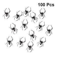 Amosfun 100pcs <b>Halloween Spider</b> Ring Black <b>Spider</b> Rings ...