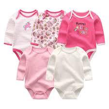 2019 <b>6pcs</b>/<b>lot Newborn</b> Unisex 100%Cotton <b>Baby</b> Girls Clothes Set ...