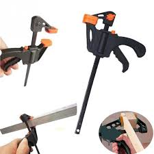 <b>Adjustable</b> Woodworking Bar Clamp Clip <b>DIY</b> Carpentry Hard Grip ...