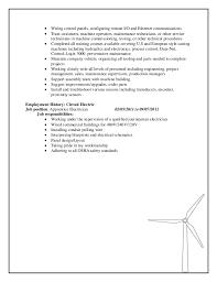 wind turbine technician resume